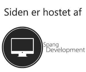 Siden er hostet af Spang Development IvS